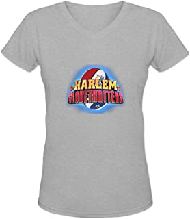 Candyice Women's Harlem Globetrotters V Neck Short Sleeve T-Shirt