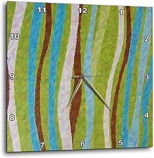 """3dRose DPP_17886_1 Rhythm in Teal Wall Clock, 10 by 10"""""""