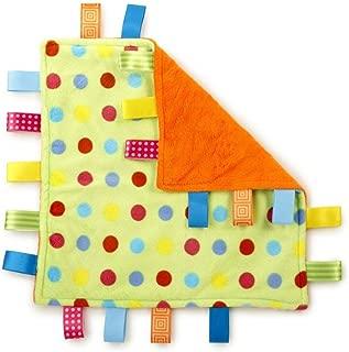 G-Tree Tag Blanket Baby Infant Comfort Plush Security Blanket Cute Soft Kids Teething Toy Newborn Gift Birthday Present(Green Dot)