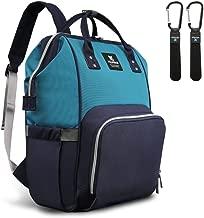 Hafmall Diaper Bag Backpack - Waterproof Multifunctional Large Travel Nappy Bag (Navy Blue Lake Blue)
