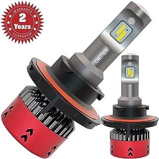 NSLUMO H13 9008 Led Headlight Bulbs 6000K 9600lm 70w Bright White 9008 H13 High Low Beam Auto Headlight Conversion Kits 2 Years Warranty (A Pair)
