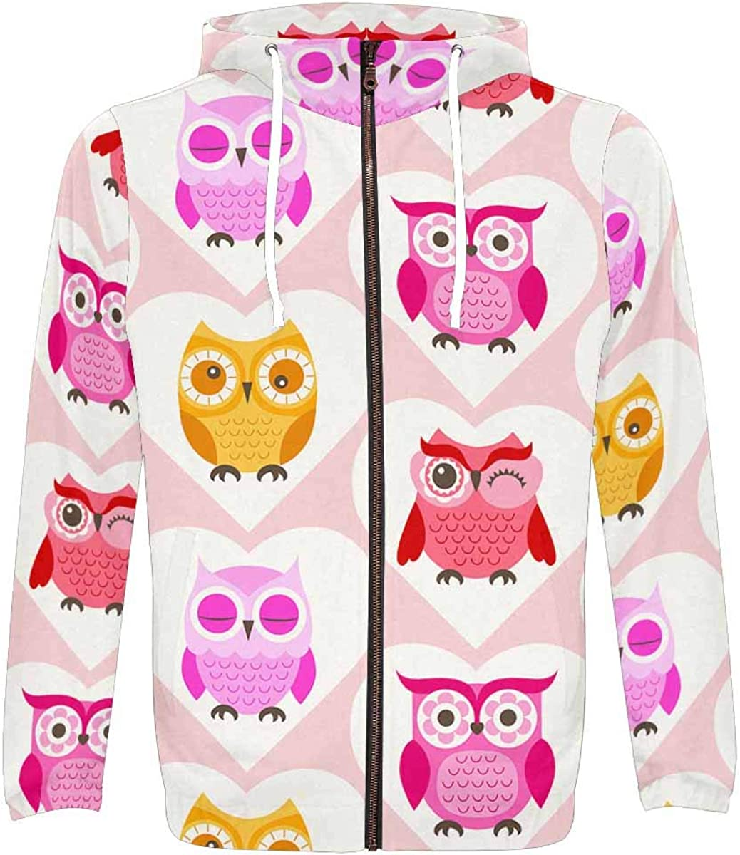 InterestPrint Men's Lightweight All Animer and price revision Over Up wit Zip Print Hoodie Wholesale