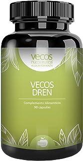Vecos Dren para ayudar a la eliminación de líquidos – Abedul, ortiga verde y ortosifón para contribuir a la acción diurética y depurativa de nuestro organismo – Efecto drenante – 90 cápsulas