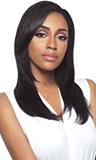 Haircloset's Outre Simply Quick Weave Human Half Wig BRAZILIAN NATURAL WAVE (Natural Black)