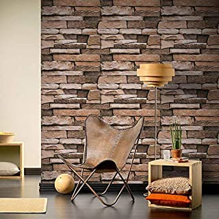 Indian Royals Stone Peel and Stick Wallpaper - Self Adhesive Wallpaper - Easily Removable Wallpaper - Brick Peel and Stick...