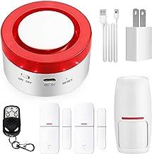 TUYA Smart Home Security Alarm Siren System, Hacevida T1 Wireless WiFi Burglar Siren Alarms, Compatible with Alexa and Goo...