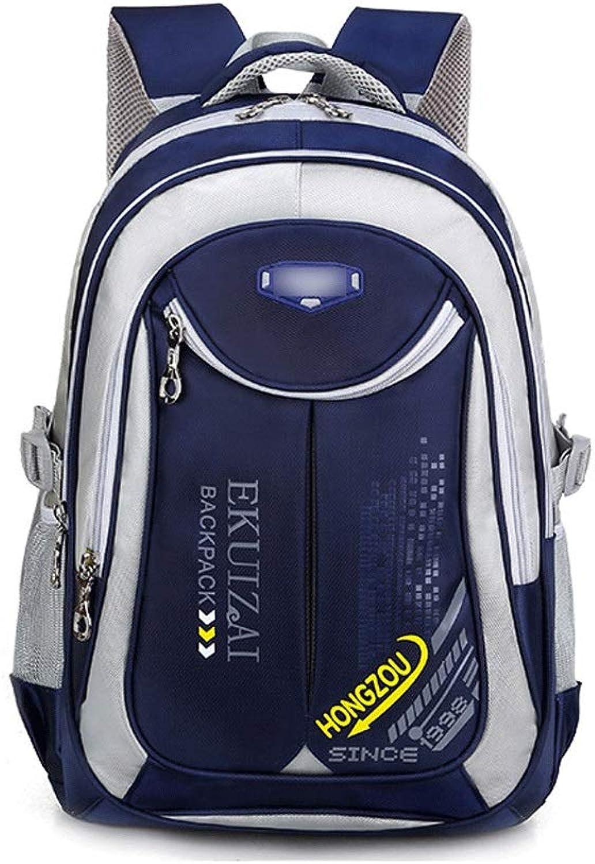 TONGSH Waterproof Large Cute Prince Princess School Backpack for Boys And Girls,Teen Girls Lightweight Campus BookBag Casual Schoolbag Travel Casual Backpack (color   Dark bluee)