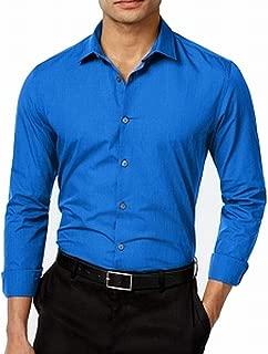 Mens Cotton Colorblock Button-Down Shirt