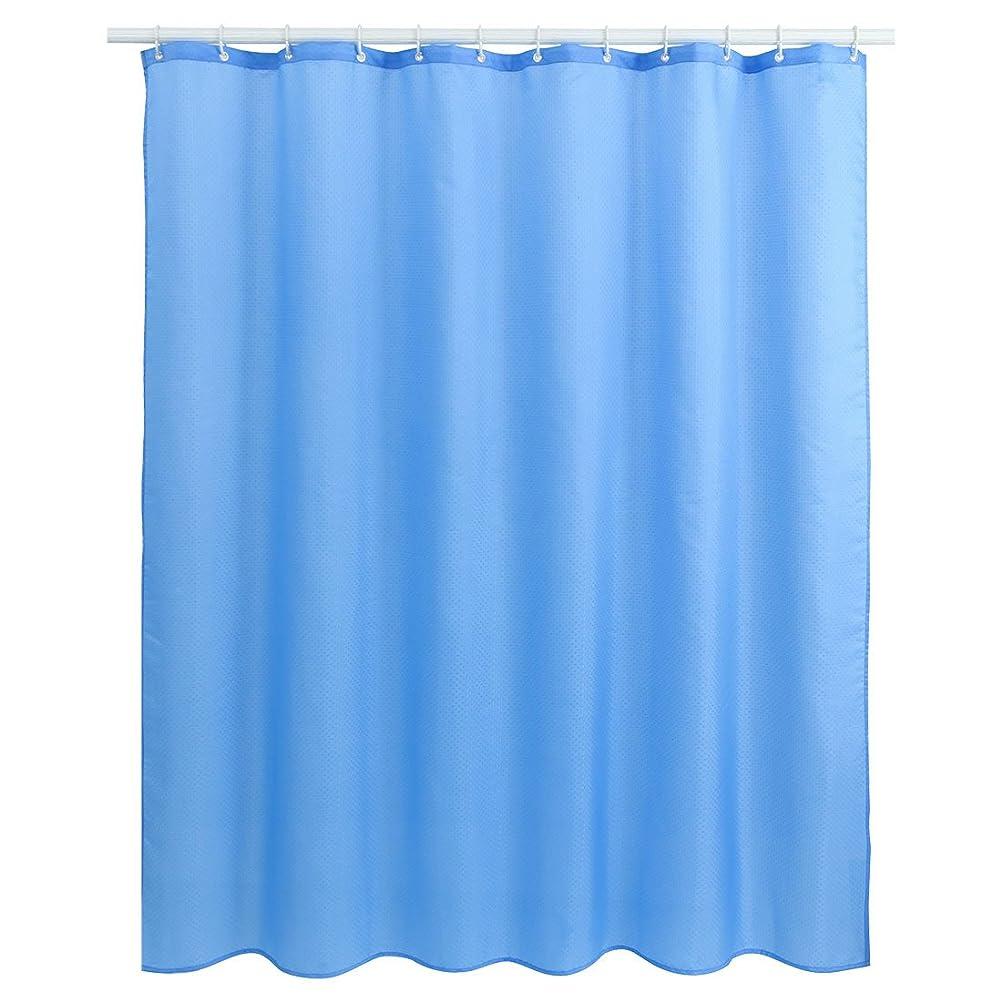 協力合図バックアップuxcell シャワーカーテン バスカーテン 浴室 防水 防カビ ロング 厚手 フックリング付き カーテン 風呂カーテン ブルー2 180x180cm