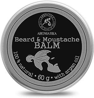 Bart Balsam 60g - Balsam für den Bart mit Natürlicher Mandelöl - Arganöl - Jojobaöl - Kakao Butter - Sandelholzöl - Bergamotteöl - Bart Balm - große Vorteile für Bartpflege - Beard Balm