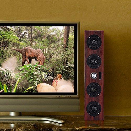 Zhat Reproductor estéreo, Escritorio de Madera del Altavoz de Las multimedias de Smart TV para la Oficina para el hogar