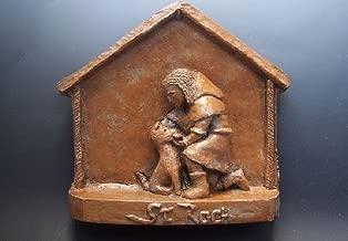 St. Roch: Patron Saint of Dogs: Handmade Statue