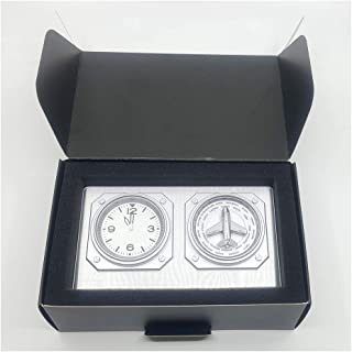 GMT World Timer with Turning Plane Silver, Fighter gifts