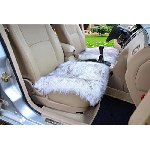 Car Van Front Pair of LUXURY GOLD TIGER Fur Furry Fluffy Seat Covers