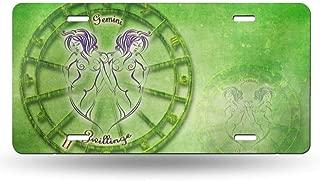 Ohuu Green Gemini Personality Iron Colorful License Plate Decorative Metal Card 6