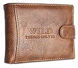 Cartera para hombre Trifold monedero con monedero monedero con cierre y botón de presión apaisado 1142.1