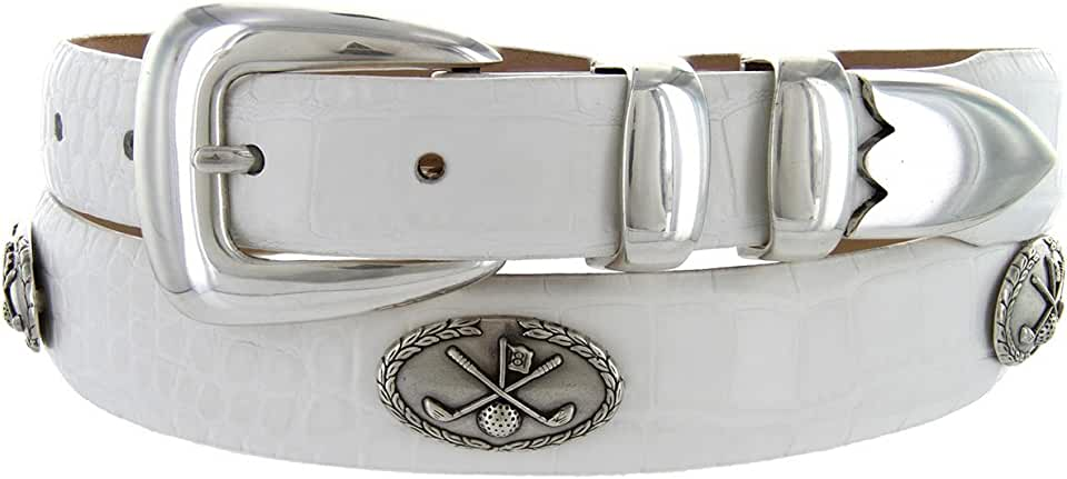 Golf of Palisades Genuine Italian Calfskin Leather Designer Dress Golf Belt for WomenMultiple colors Available