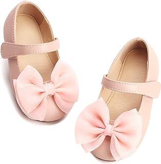 3143cbfba387 THEE BRON Girl's Toddler/Little Kid Ballet Mary Jane Flat Shoes
