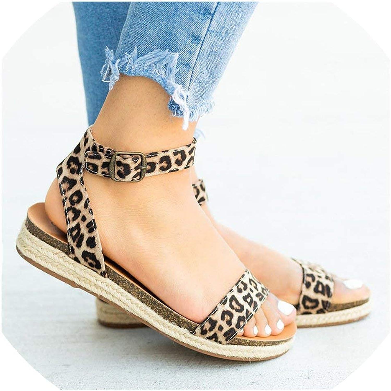 Women Sandals Leather Summer shoes Woman Flat Sandals Low Heels Casual Beach Sandals