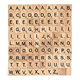 The 100 Scrabble Tiles Alphabet of the Wooden Scrabble Pieces for Word Scrabble Game Board of Education Games Craft Letters and Scrabble Tiles for Wall Decor and Other Wood Pieces for Crafts…
