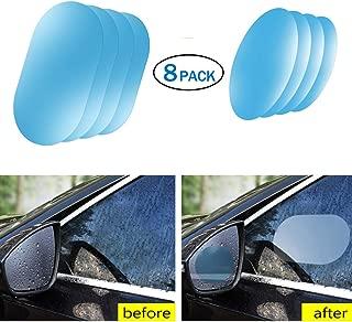 Car Rearview Waterproof Film, Anti Fog Anti-Fogging,Anti-Mist Anti-Dazzle,Mirrors Rainproof,Anti-Glare Side Mirror Window Protector Film,Anti- Fog Clear Car Rearview Mirror Accessories (8)
