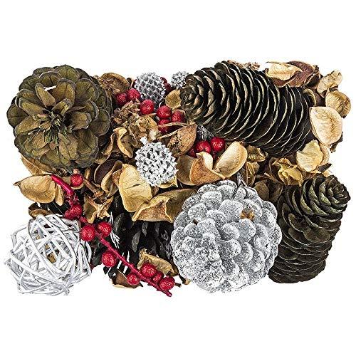 Edel-Potpourri | Deko-Set | 200 g | verschiedene duftende Blüten, Zweige, Deko-Elemente (Weihnachten 1)