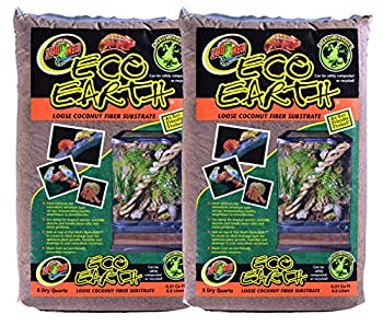 Zoo Med  2 Pack  Eco Earth Loose Coconut Fiber Substrate for Reptiles 8 quarts