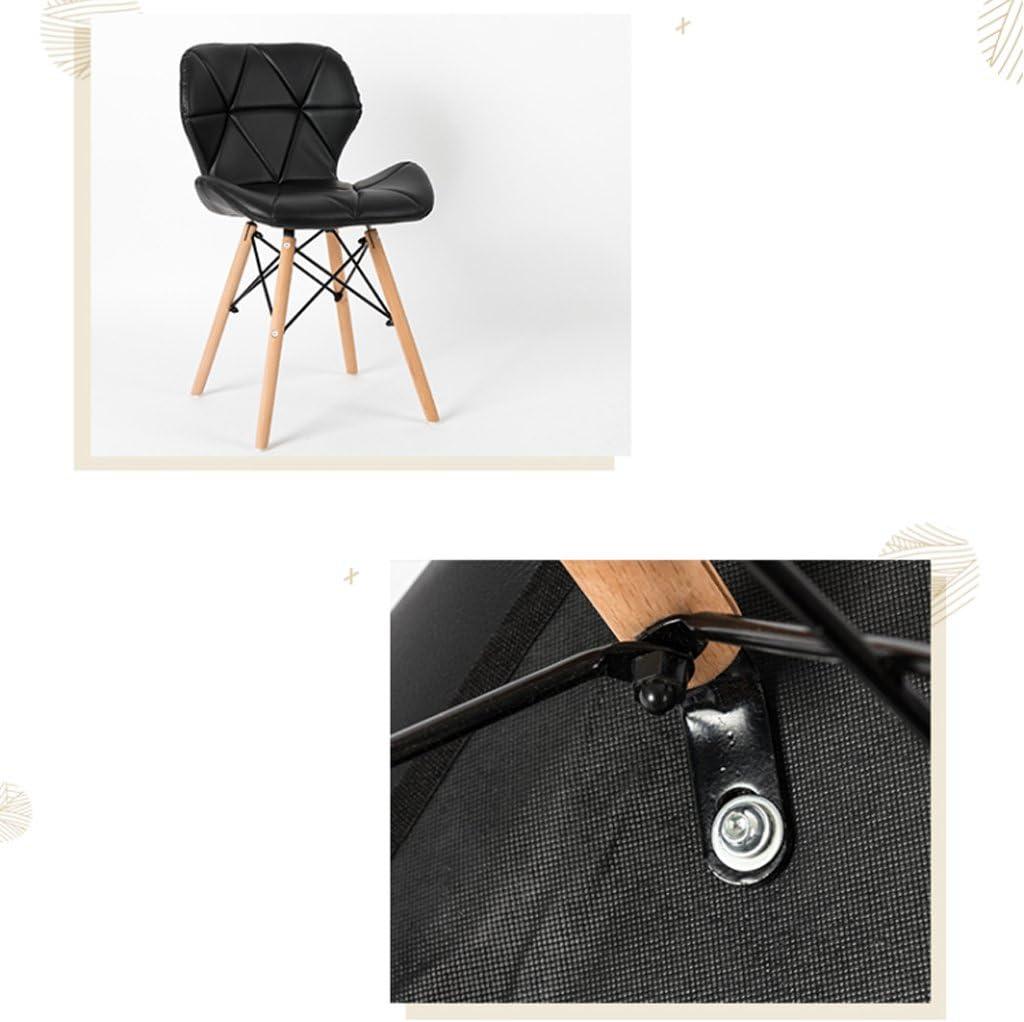 Dossier de chaise en bois massif Dossier de chaise en plastique décontracté (Couleur : C) A
