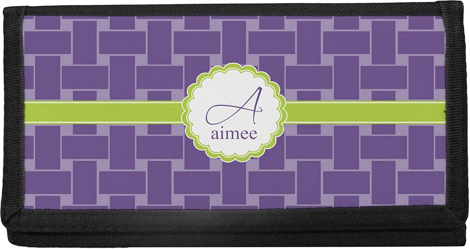 Challenge the lowest price Waffle Weave Max 76% OFF Canvas Cover Checkbook Personalized