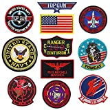 f14 patch - Top Gun Patches United Sates Navy Fighter Weapons School, American Flag, CV-61 USS Ranger 100 Centurion, Tom Cat, Pete Mitchell Maverick, VX-31, VF-1 Embroidered Patch Morale Appliques Badges 11PCS