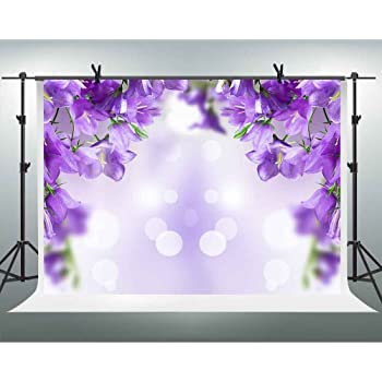 New Lavender Manor Backdrop 7x5ft Flowers Blossoms Photos Background Wedding Bride Portraits Bridal Shower Party Decoration Girls Birthday Party Photos Studio Props