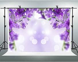 2.2x1.5m Photography Backdrops Purple Flowers Curtain Wedding Backdrop Bridal Shower Spiral Decorations Floral 3D Backdrop Table Dessert Decor Photoshooting Background XT-6708