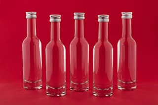 30 o 60 unidades de botellas de cristal pequeñas (50 ml Bormioli de 50ml rosca