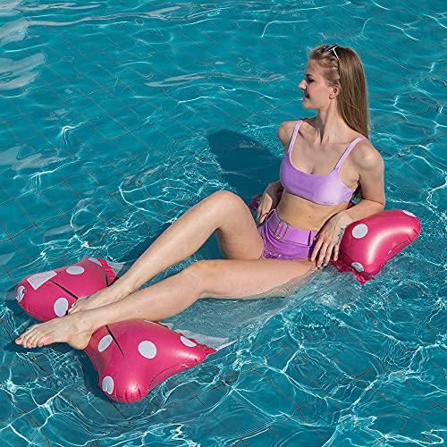 Flotador de Hamaca de Agua para Piscina para Adultos / niños, Hamaca Inflable de Mariposa, colchoneta de Malla para Piscina, Tumbona reclinable
