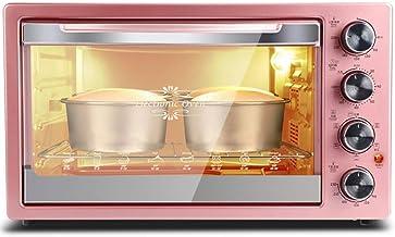 Barbacoa Microondas 42L rosa multifunción Horno eléctrico, sistema de circulación de aire caliente 3D con 120 Minuto temporizador - incluyendo la temperatura ajustable de control, pan tostado, al horn