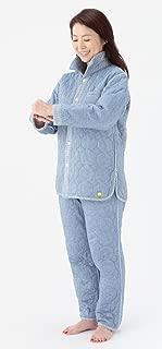 【追加生産】冬用パシーマパジャマ「Japan Blue」紺無地_暖かぐっすり睡眠大人用(男女共通)「アイディング元気ウエア」オリジナル