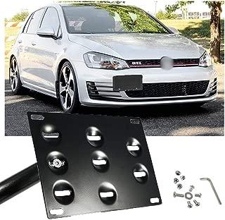 Xotic Tech Black Aluminum License Plate Bumper Mount Bracket Holder for VW MK5 GTI MK6 EOS Golf GTI Audi TT