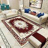 Vlejoy Alfombras Salon Modernas Dormitorio Cabecera Sala de Estar Alfombra Guardarropa Alfombra Oriental Estilo Clásico-Rojo Oscuro 160x230cm