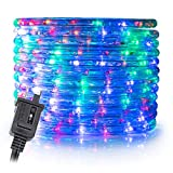 WYZworks 100' feet Multi-RGB LED Rope Lights - Flexible 2 Wire Accent Holiday Christmas Party Decoration Lighting | ETL Certified
