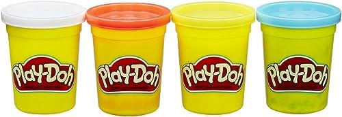 Play-Doh – 4 Pots de Pate à Modeler - Couleurs Classiques - 112 g chacun
