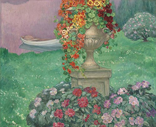 The Museum Outlet – Stoned Vase avec fleurs dans le jardin, 1922 – Poster Print Online Buy (76,2 x 101,6 cm)