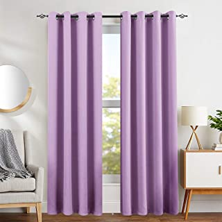 Lilac Blackout Curtains for Girls Room Darkening Thermal...