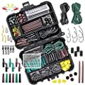 282Pcs Carp Fishing Tackle in Box, Fishing Accessories Kit Include Fishing Hook, Safety Clips Hook, Corn Kernel, Tubing, Rolling Swivel, Fishing Bait Screw, Fishing Bead, Boilie Stops with Tackle Box