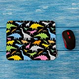 Mugod Dinosaur Mouse Pad Seamless Colorful Cute Cartoon Animal Dinosaur Dragon Pattern Decor Gaming Mouse Pad Rectangle Non-Slip Rubber Mousepad for Computers Laptop 7.9x9.5 Inches