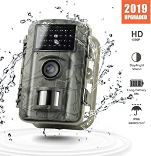 Gosira Trail Motion Activated Game Cameras 12MP HD Night Vision Latest 940nm Infrared LEDs 0.4S Trigger with Sell Separately 32GB Memory Card
