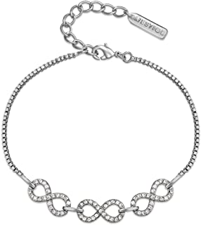 Mestige Women Glass Never-ending Bracelet with Swarovski Crystals