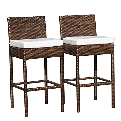 Stupendous Wicker Bar Stool Amazon Com Pabps2019 Chair Design Images Pabps2019Com