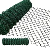 Amagabeli 1.2M x 25M Grillage Jardin Fil 50 x 50 mm Grillage Simple Torsion Vert Métallique Grillage Cloture Jardin en Acier et PVC RAL6005 HC03