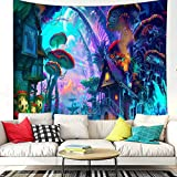 Mujia Psychedelic Forest Mushroom Tapestry for Living Room Bedroom Dorm Decoration (Forest, 59.1' × 51.2')