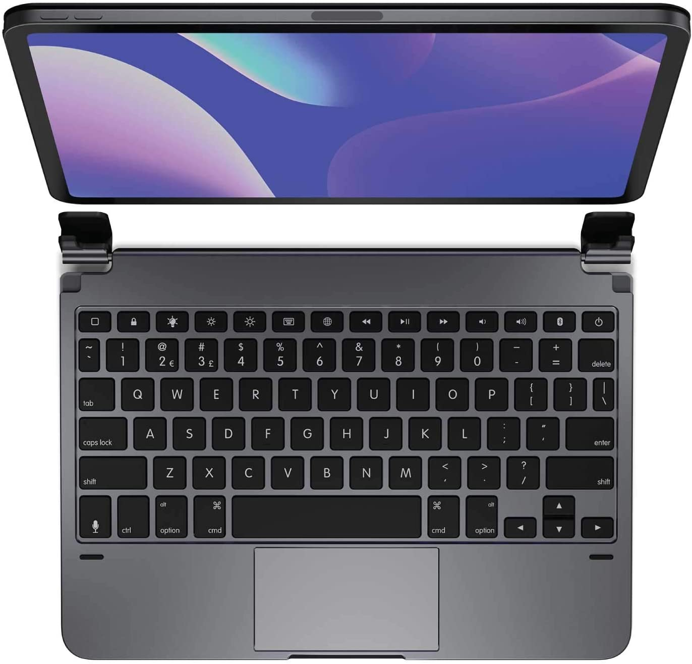 Brydge 11.0 Pro+ Wireless Keyboard with Trackpad | Compatible with iPad Pro 11-inch (1st, 2nd & 3rd Gen) | Native Multi-Touch Trackpad | Backlit Keys | (Space Gray)